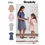 8755 Simplicity Pattern: Girls' Dresses